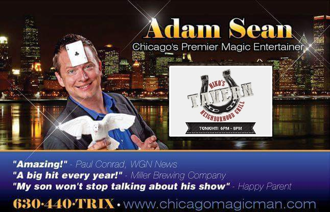 Magic Mondays with Adam Sean at Niko's Tavern
