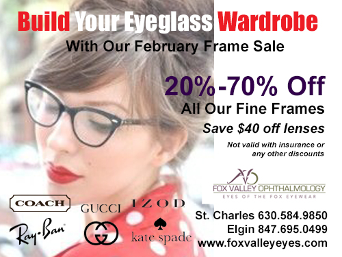 Frame Sale at Fox Valley Ophthalmology