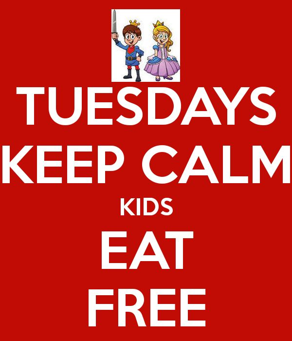 Kids eat free on Tuesdays at McAlister's Deli