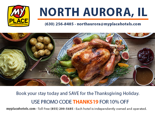 Thanksgiving Guest Rooms at My Place Hotels - North Aurora