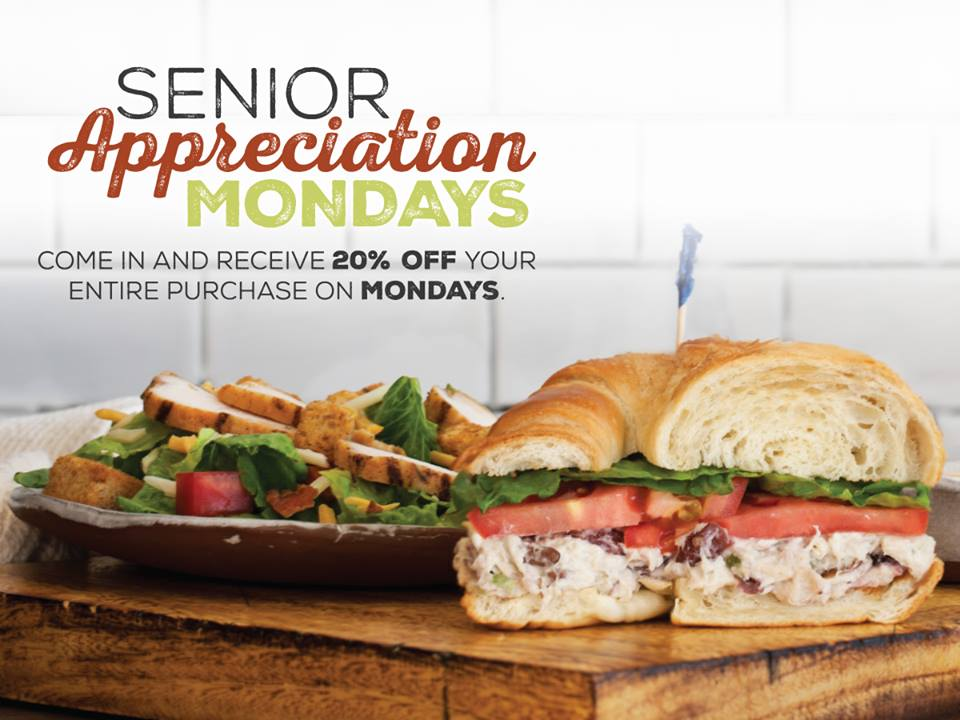 Senior Appreciation Mondays at McAlister's Deli
