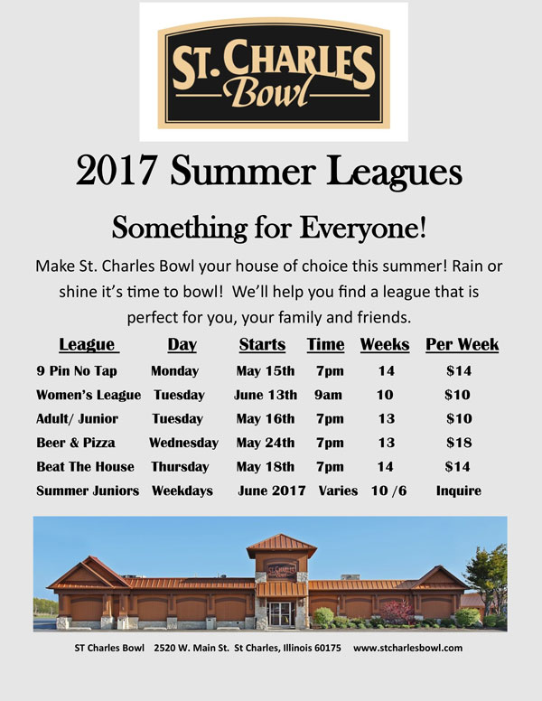 2017 Summer Leagues at St. Charles Bowl