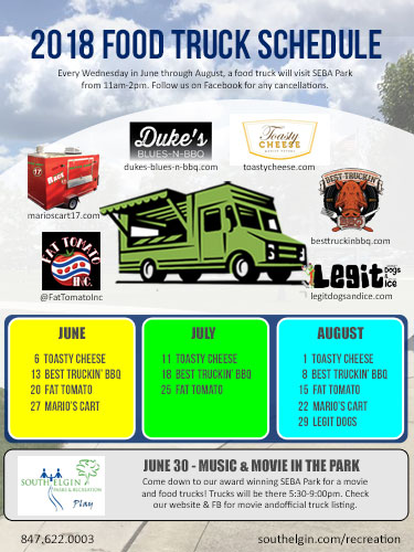 Food Trucks with South Elgin Parks & Recreation