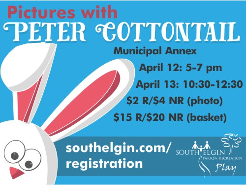 Photos w/ Peter Cottontail - S. Elgin Parks & Rec