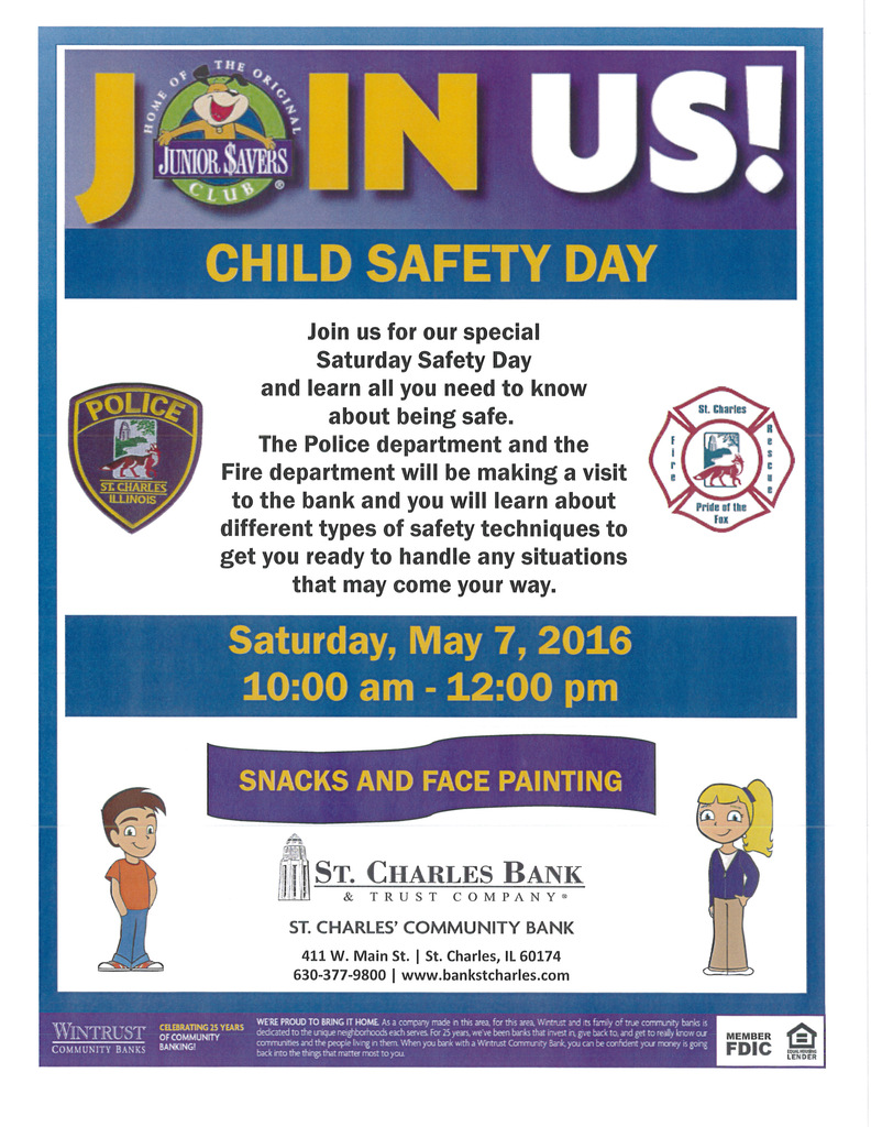Child Safety Day at St. Charles Bank & Trust