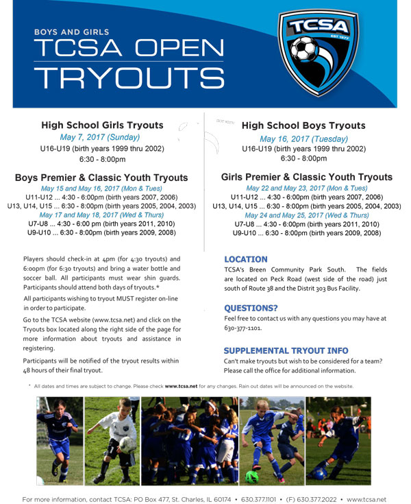 TCSA Tryouts