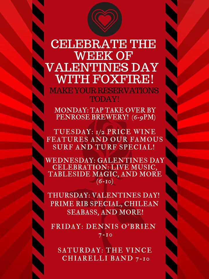 Celebrate Valentine's all week at FoxFire