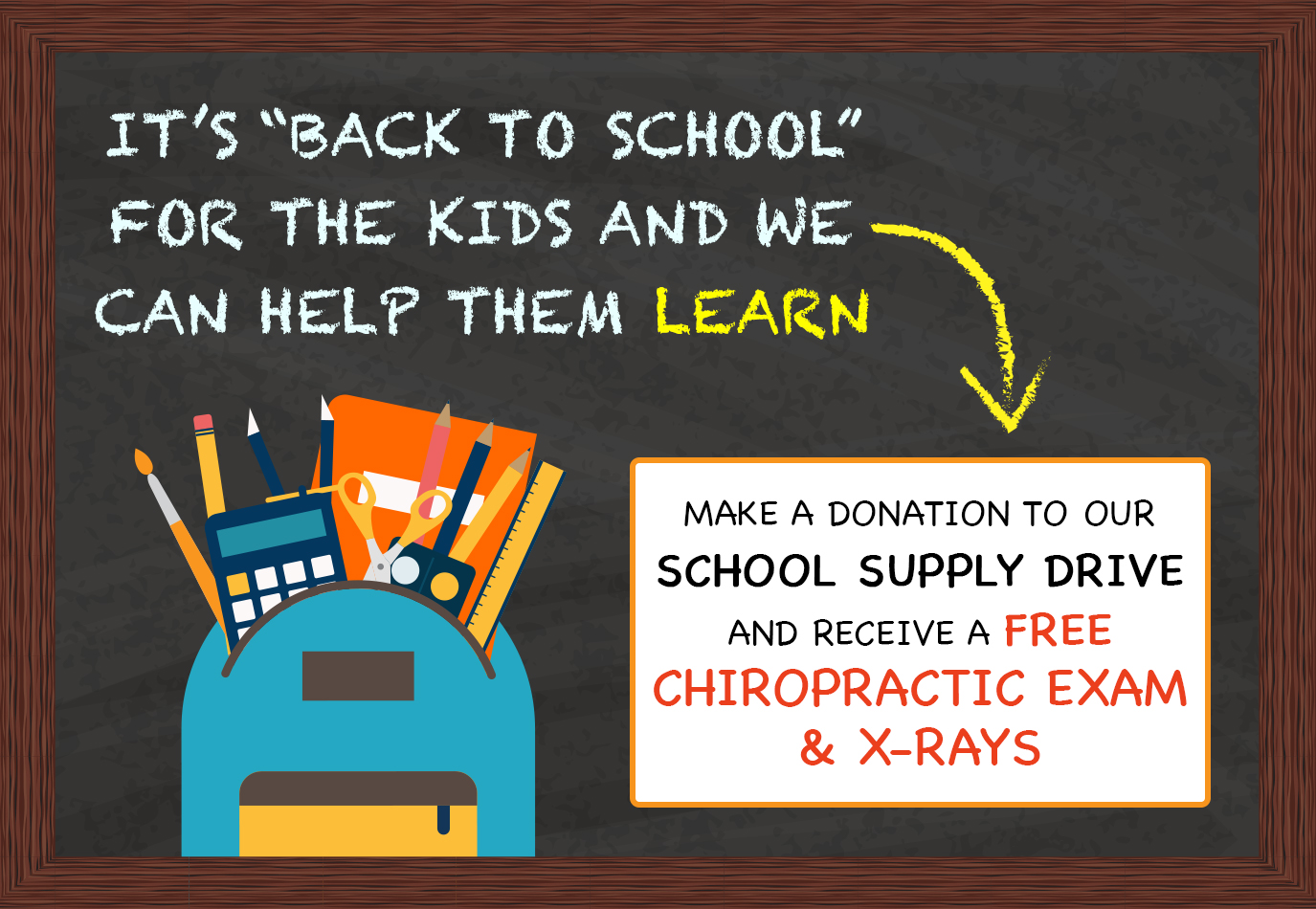 Back to School Special at Vital Wellness Center