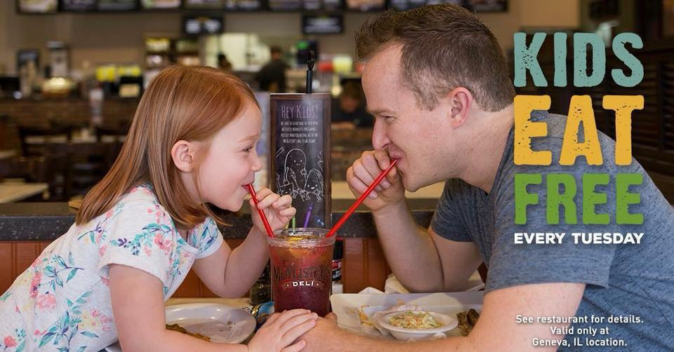 McAlister's Deli Kids Eat Free Tuesdays!